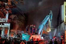 Vĩnh Phúc: Cháy lớn tại thị trấn Thổ Tang